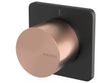 Phoenix Toi Shower/Wall Mixer Matte Black/Brushed Rose Gold