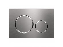 Geberit Sigma20 Mechanical dual flush button/access plate SS, chrome trim with tamper proof fixing