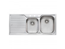 1 & 3/4 Right Hand Bowl Sink with Drainer 3 Taphole