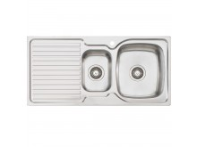 1 & 1/2 Right Hand Bowl Sink with Drainer 1 Taphole