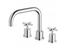 Phoenix Radii Squareline Basin Set Chrome