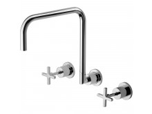 Phoenix Radii Wall Sink Set 300mm Chrome