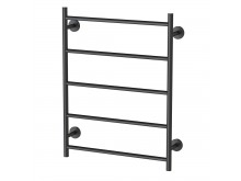 Phoenix Radii Towel Ladder 550 x 740mm Round Plate Matte Black