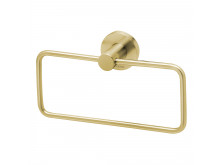 Phoenix Radii Hand Towel Holder Round Plate Brushed Gold