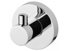 Phoenix Radii Robe Hook Round Plate Chrome