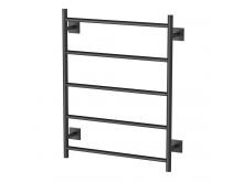 Phoenix Radii Towel Ladder 550 x 740mm Square Plate Matte Black