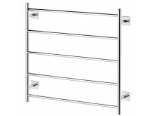 Phoenix Radii Towel Ladder 750 x 740mm Square Plate Chrome