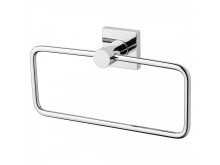 Phoenix Radii Hand Towel Holder Square Plate Chrome