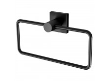 Phoenix Radii Hand Towel Holder Square Plate Matte Black