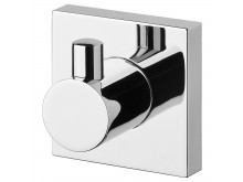Phoenix Radii Robe Hook Square Plate Chrome