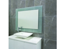 Ablaze Contractor 750x900mm Frosted Float Glass Mirror with Demister