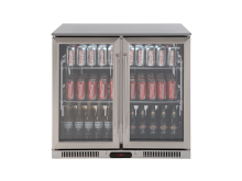 Double Door Stainless Steel Beverage Cooler