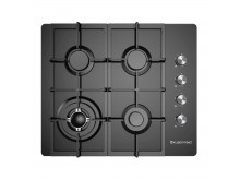 Kleenmaid Gas Cooktop 60cm with cast iron pan supports.