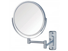 ablaze 1 & 10x Magnification Chrome Wall Mounted Shaving Mirror, 200mm Diameter