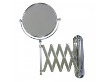 ablaze 1 & 4x Magnification Chrome Wall Mounted Shaving Mirror, 200mm Diameter