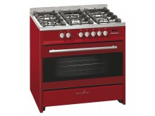 scandium RED UPRIGHT COOKER GAS-ELECTRIC 90CM