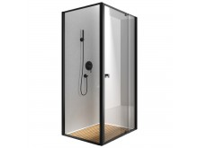 Bourne semi frameless shower matte black