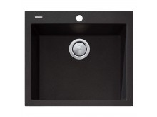 Oliveri Santorini Black Large Bowl Topmount Sink