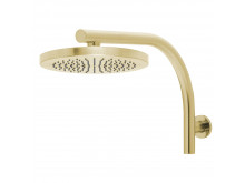 PHOENIX RUSH SHOWER ARM & ROUND ROSE HEAD Brushed gold