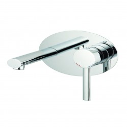 Methven Ovalo Wall Mounted Basin Mixer with Plate Chrome