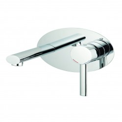 Methven Ovalo Wall Mounted Bath Mixer with Plate Chrome