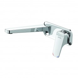 Methven Waipori Wall Mounted Basin Mixer with Plate Chrome