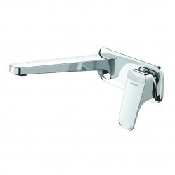 Methven Waipori Wall Mounted Bath Mixer with Plate Chrome