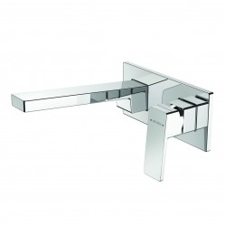 Methven Blaze Wall Mounted Bath Mixer with Plate 200mm Chrome