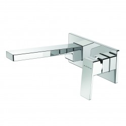 Methven Blaze Wall Mounted Basin Mixer with Plate Chrome