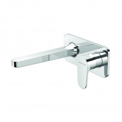 Methven Glide Wall Mounted Basin Mixer with Plate Chrome
