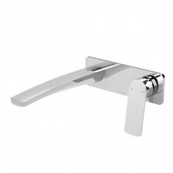 Phoenix Mekko Wall Basin/Bath Mixer Set 200mm Chrome