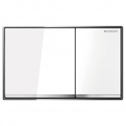 Geberit Sigma60 DF white glass