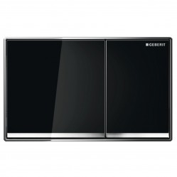 Geberit Sigma60 DF black glass