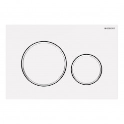 Geberit Sigma20 - Tone in Tone Mechanical dual flush button & access plate matte white