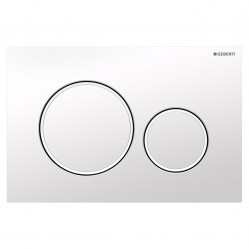 Geberit Sigma20 - Tone in Tone Mechanical dual flush button & access plate gloss white