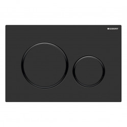 Geberit Sigma20 - Tone in Tone Mechanical dual flush button & access plate matte black