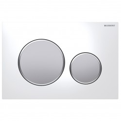 Geberit Sigma20 Mechanical DF white/satin/satin