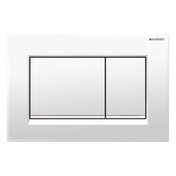 Geberit Sigma30 - Tone in Tone Mechanical dual flush button & access plate gloss white