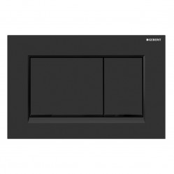 Geberit Sigma30 - Tone in Tone Mechanical dual flush button & access plate matte black