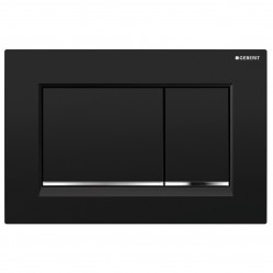Geberit Sigma 30 Dual Flush Plate Black/Chrome/Black