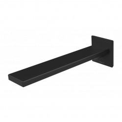 Phoenix Zimi Wall Basin Outlet matte black 200mm