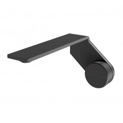 Phoenix Axia wall basin/bath outlet 200mm matte black