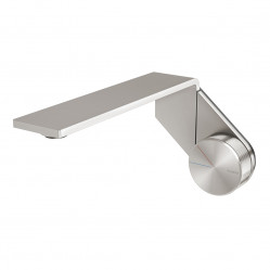 Phoenix Axia wall basin/bath outlet 200mm brushed nickel