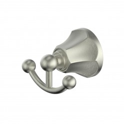 GREENS POLARO DOUBLE ROBE HOOK BRUSHED NICKEL