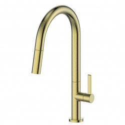 Greens Luxe Pull-Down Sink Mixer Brushed Brass