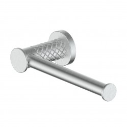 GREENS TEXTURA TOILET ROLL HOLDER BRUSHED STAINLESS