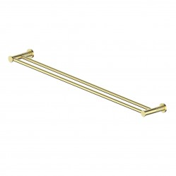 GREENS TEXTURA DOUBLE TOWEL RAIL BRUSHED BRASS