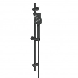 GREENS SWEPT AIRFLO ADJUSTABLE RAIL SHOWER MATTE BLACK