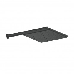 GREENS SWEPT WALL SHOWER MATTE BLACK