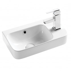 Seima Pacto 260 ceramic basin, 1 taphole on right